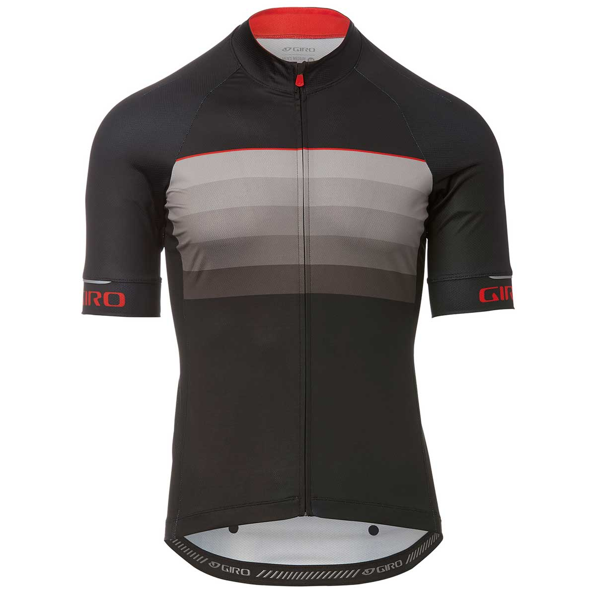 Giro Chrono Expert Jersey in Black Red Horizon front view