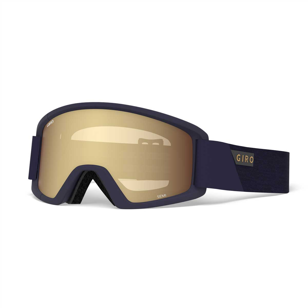 Giro Semi Goggle in Midnight Peak with Amber Gold