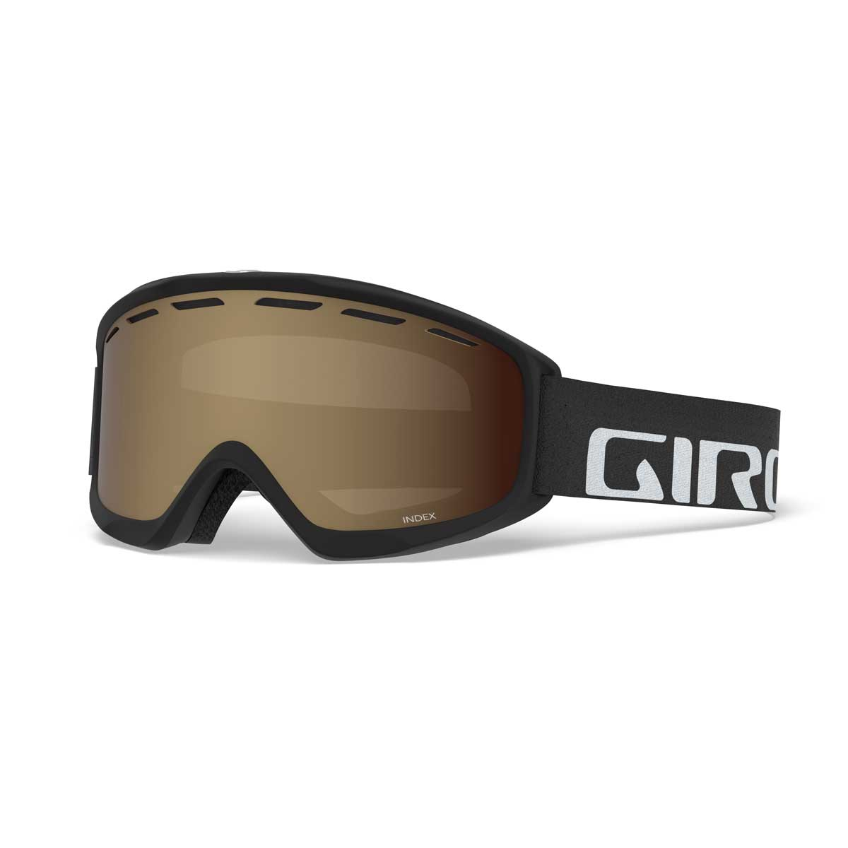 Giro Index Goggle in Black Wordmark with Amber Rose