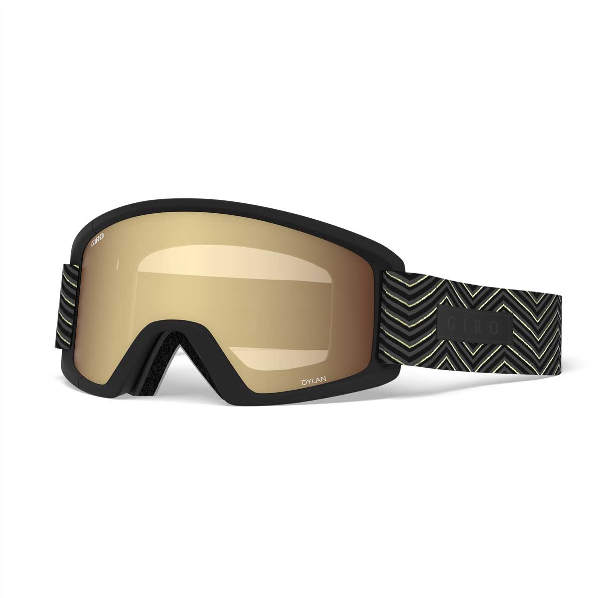 Giro Dylan goggle in Black Zag with Amber Gold