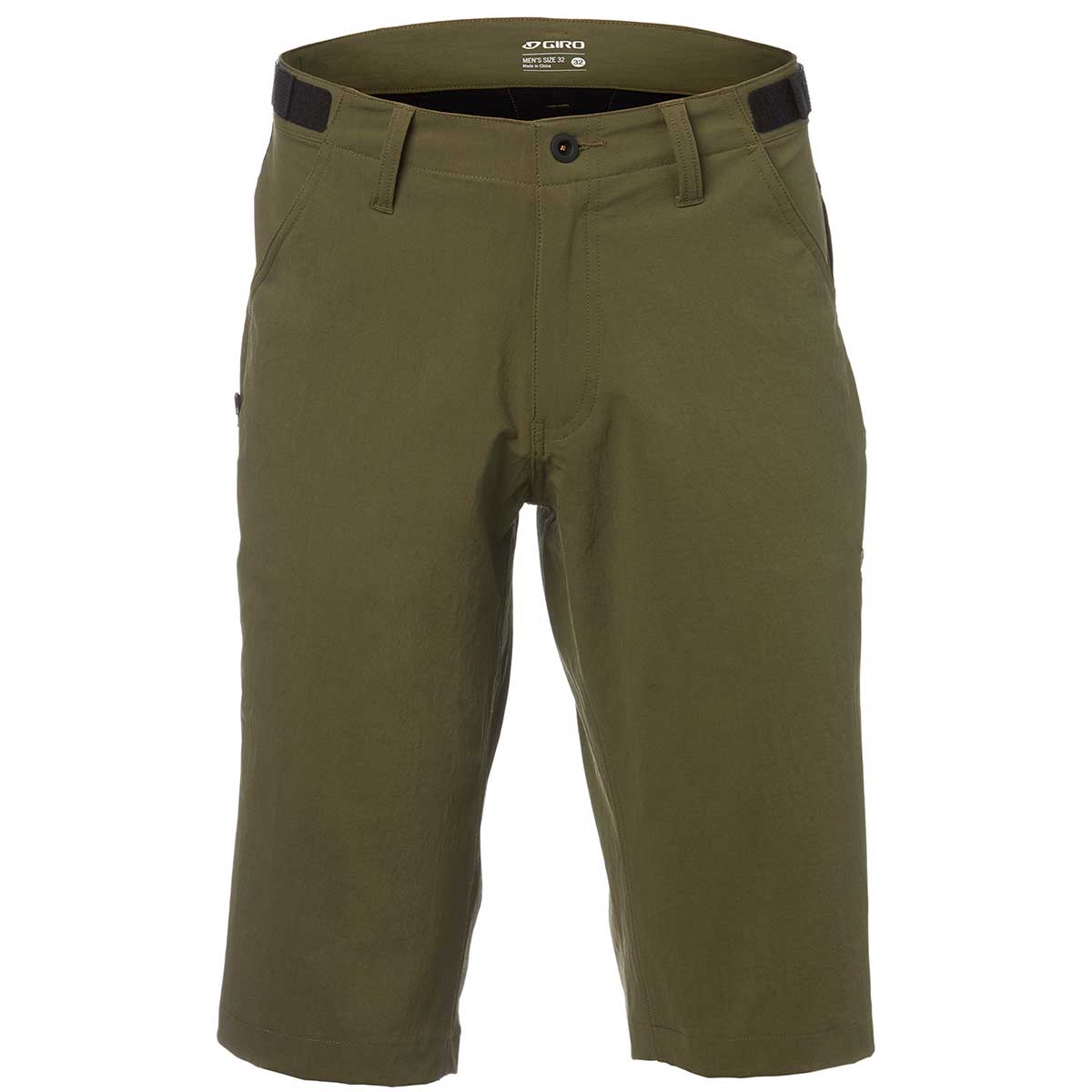 Giro men's Truant Short in Olive front view