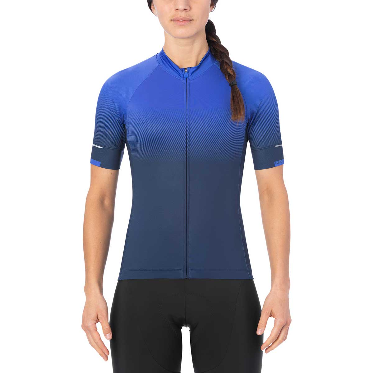 Giro women's Chrono Expert Jersey in Midnight Transition on model front view