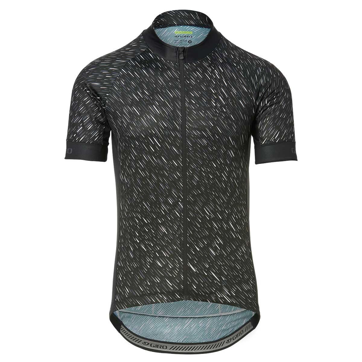 Giro men's Chrono Sport Jersey in Black Shutter front view