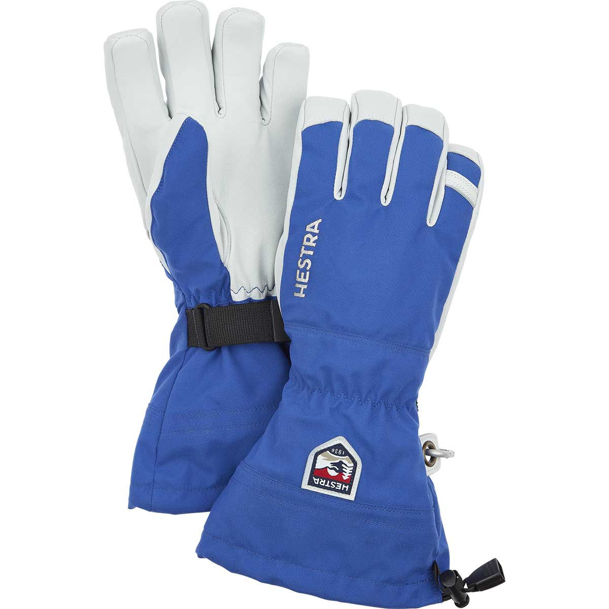 Hestra Army Leather Heli Glove in royal blue