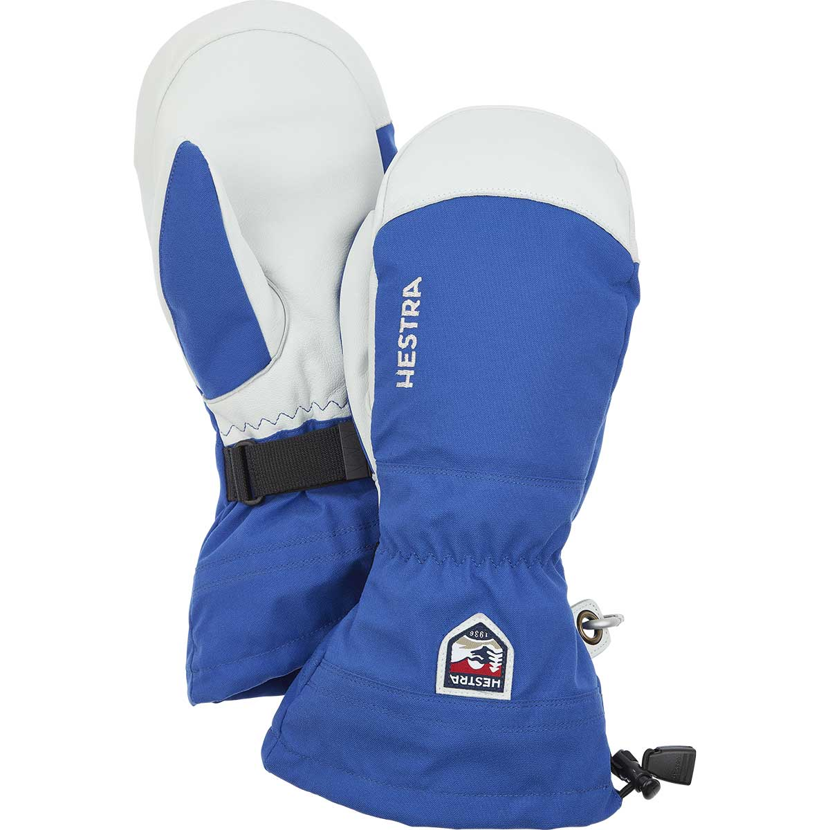 Hestra Army Leather Heli Ski Mitt in royal blue