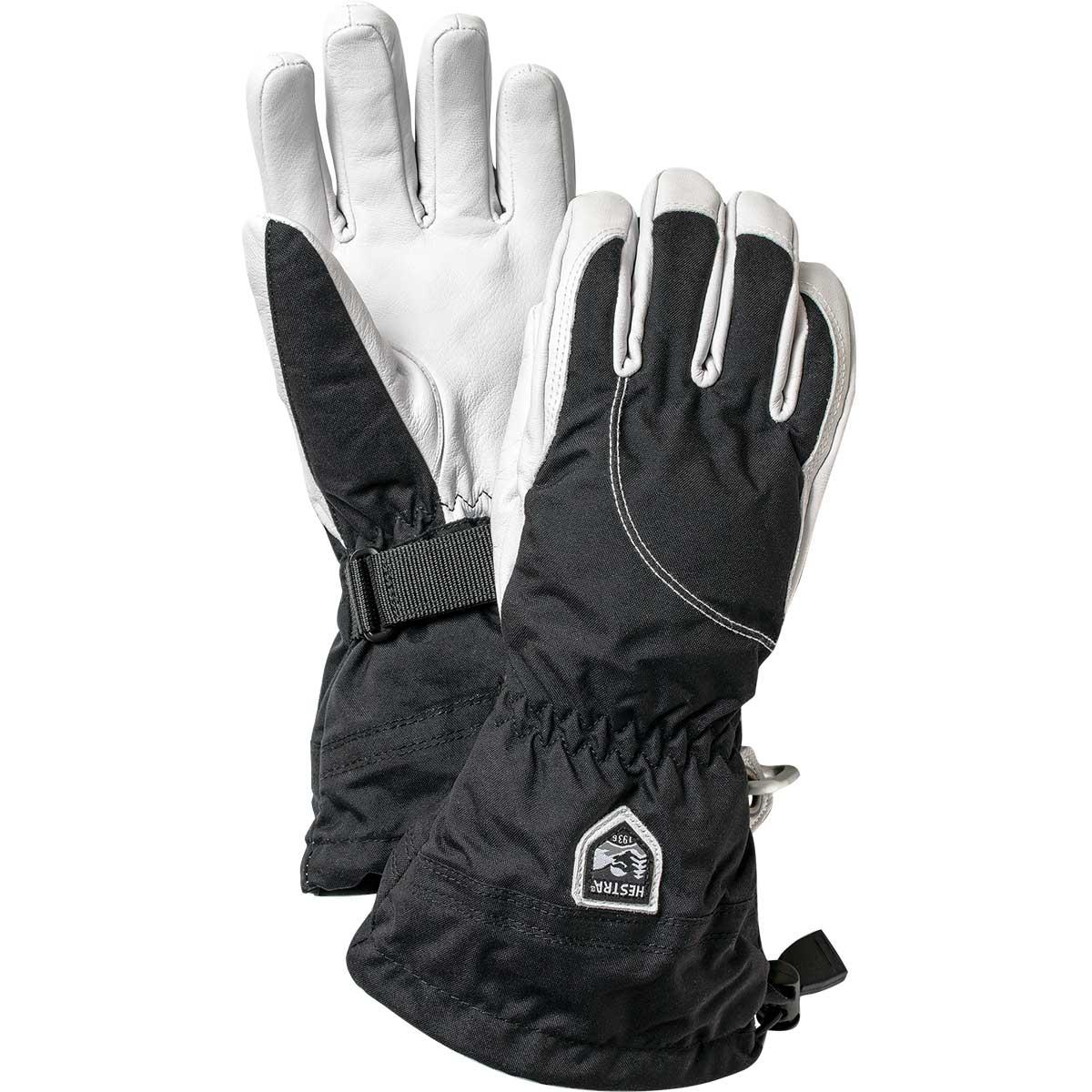 Hestra women's Heli Ski Glove in black and off white