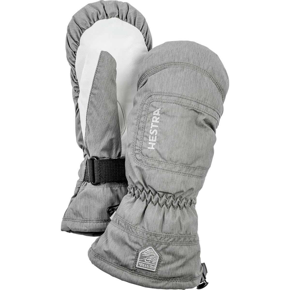 Hestra women's CZone Powder Mitt in grey and off white
