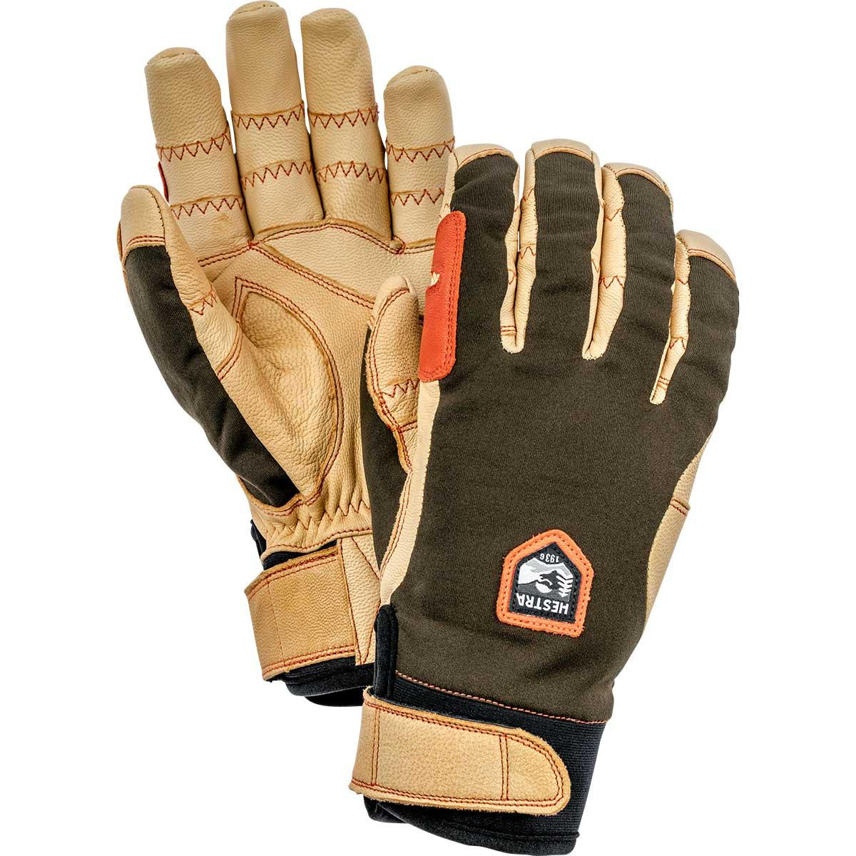 Hestra Ergo Grip Active Gloves in dark forest brown