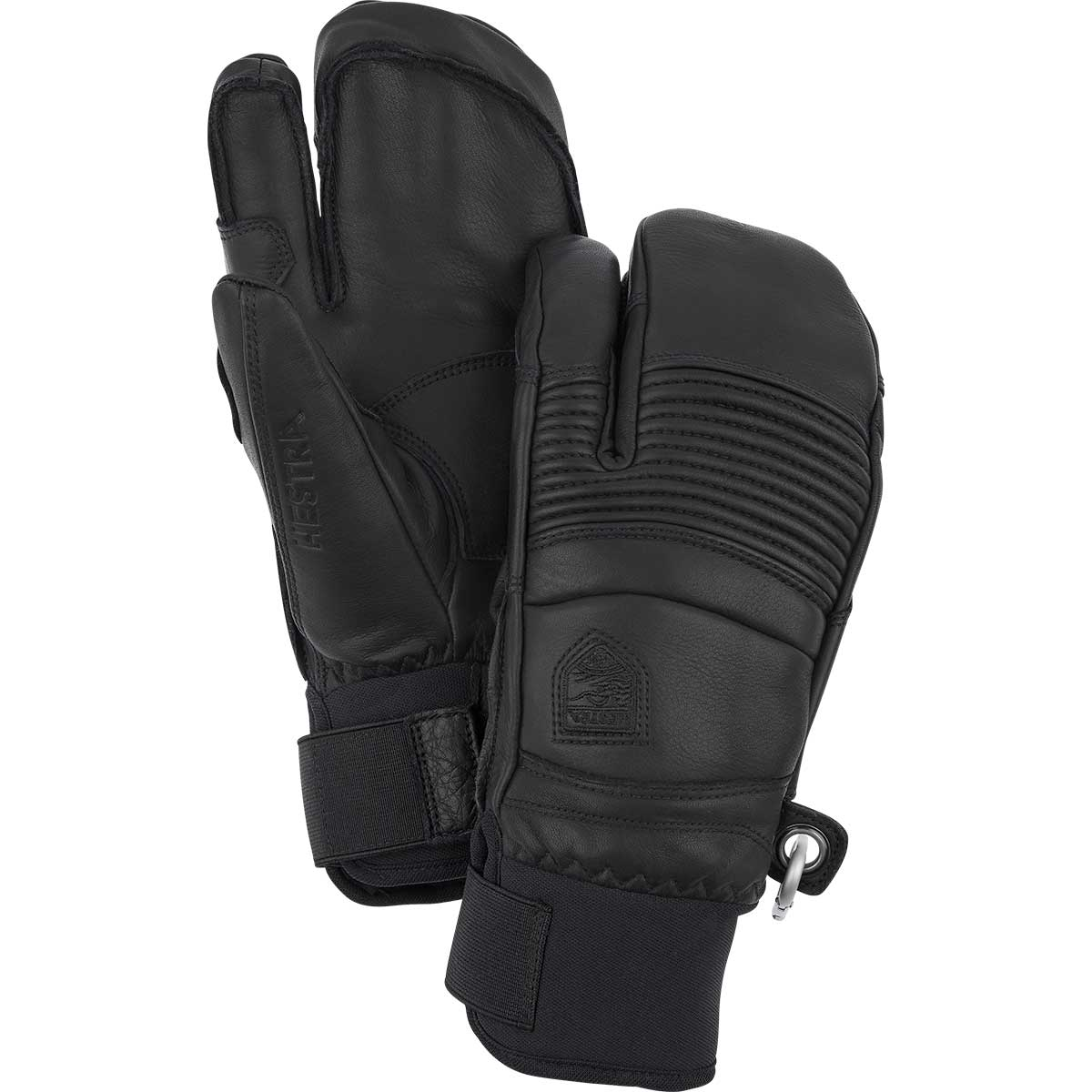 Hestra Leather Fall Line 3-Finger gloves in black