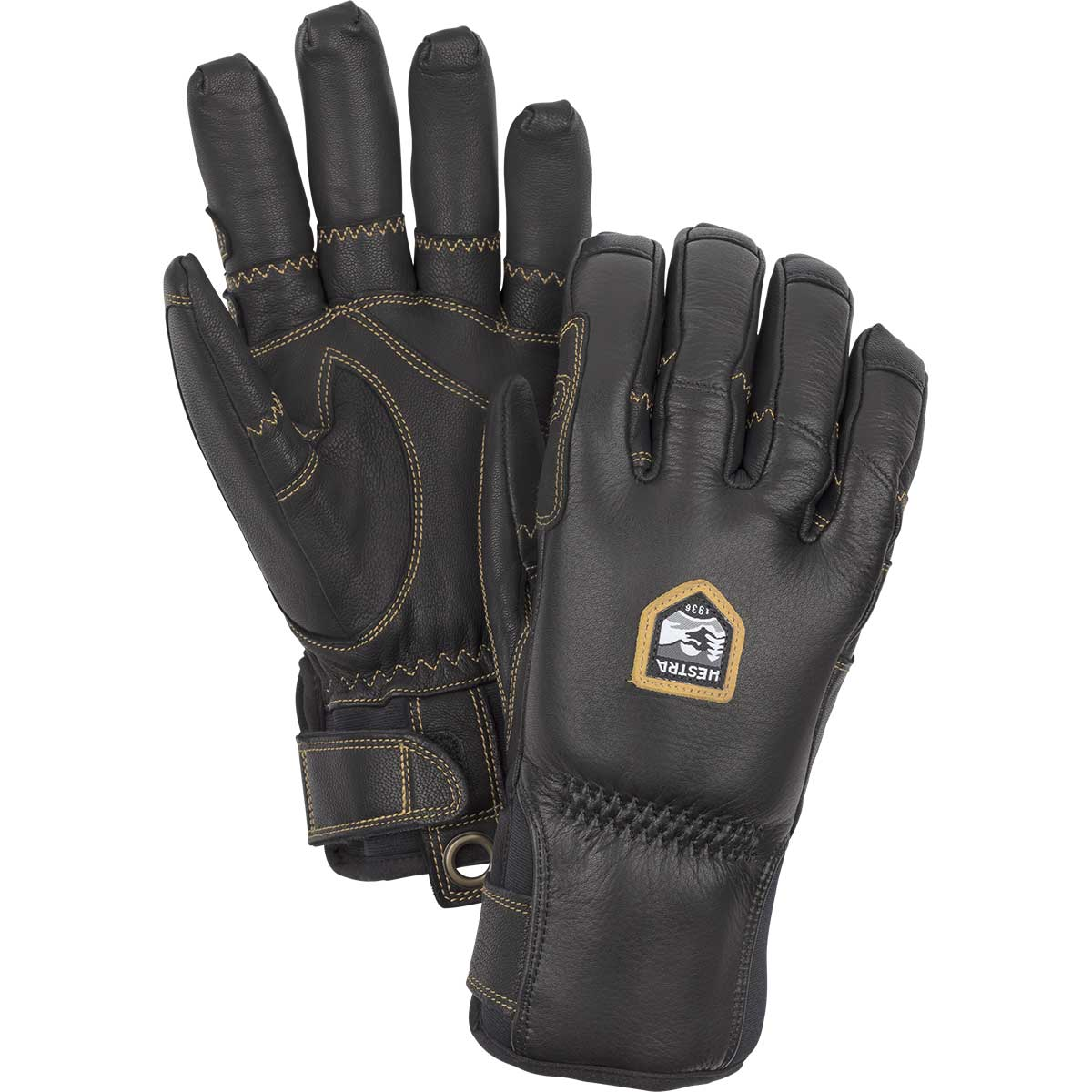Hestra Ergo Grip Incline Glove in black and black