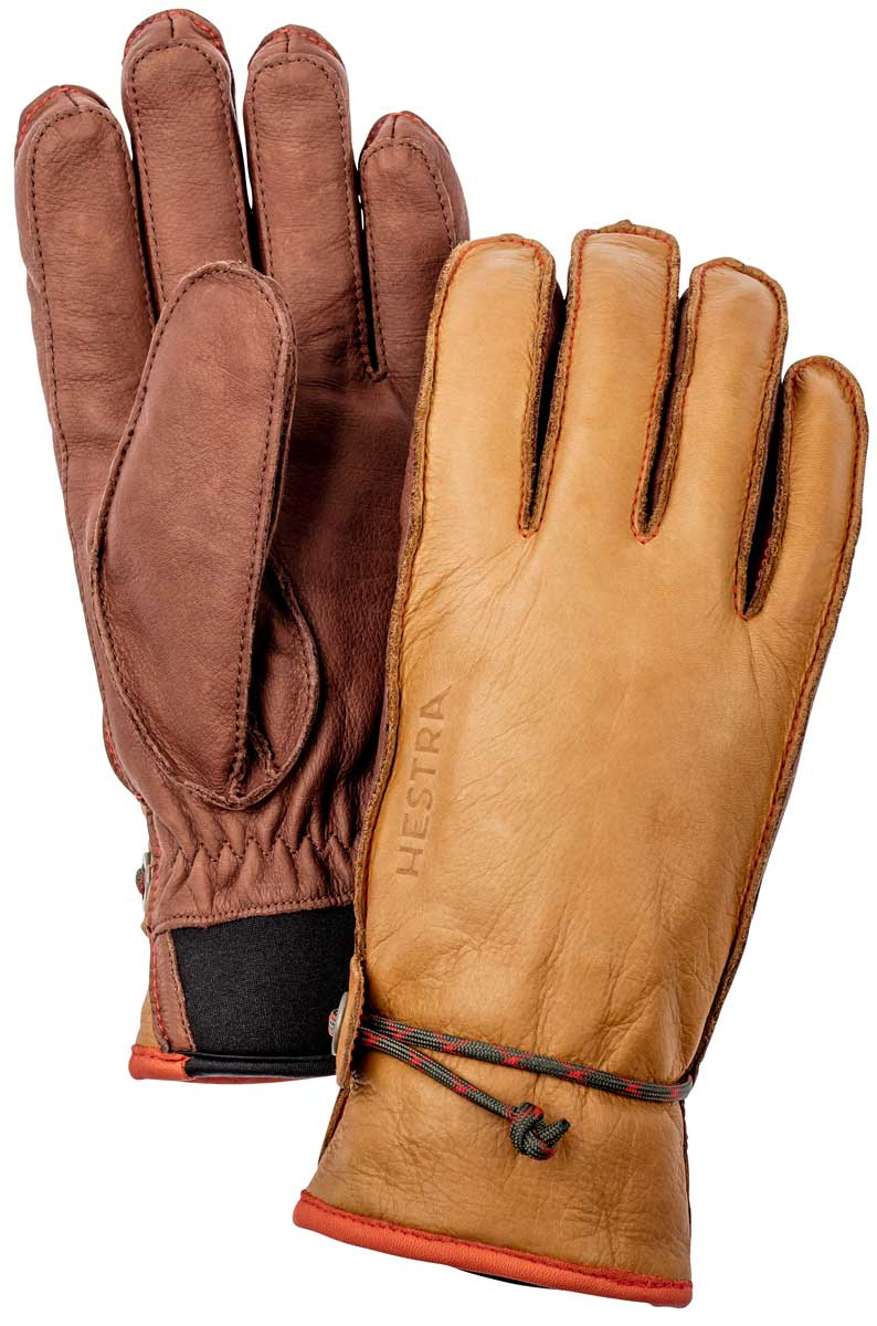 Hestra Wakayama Glove in cork and brown