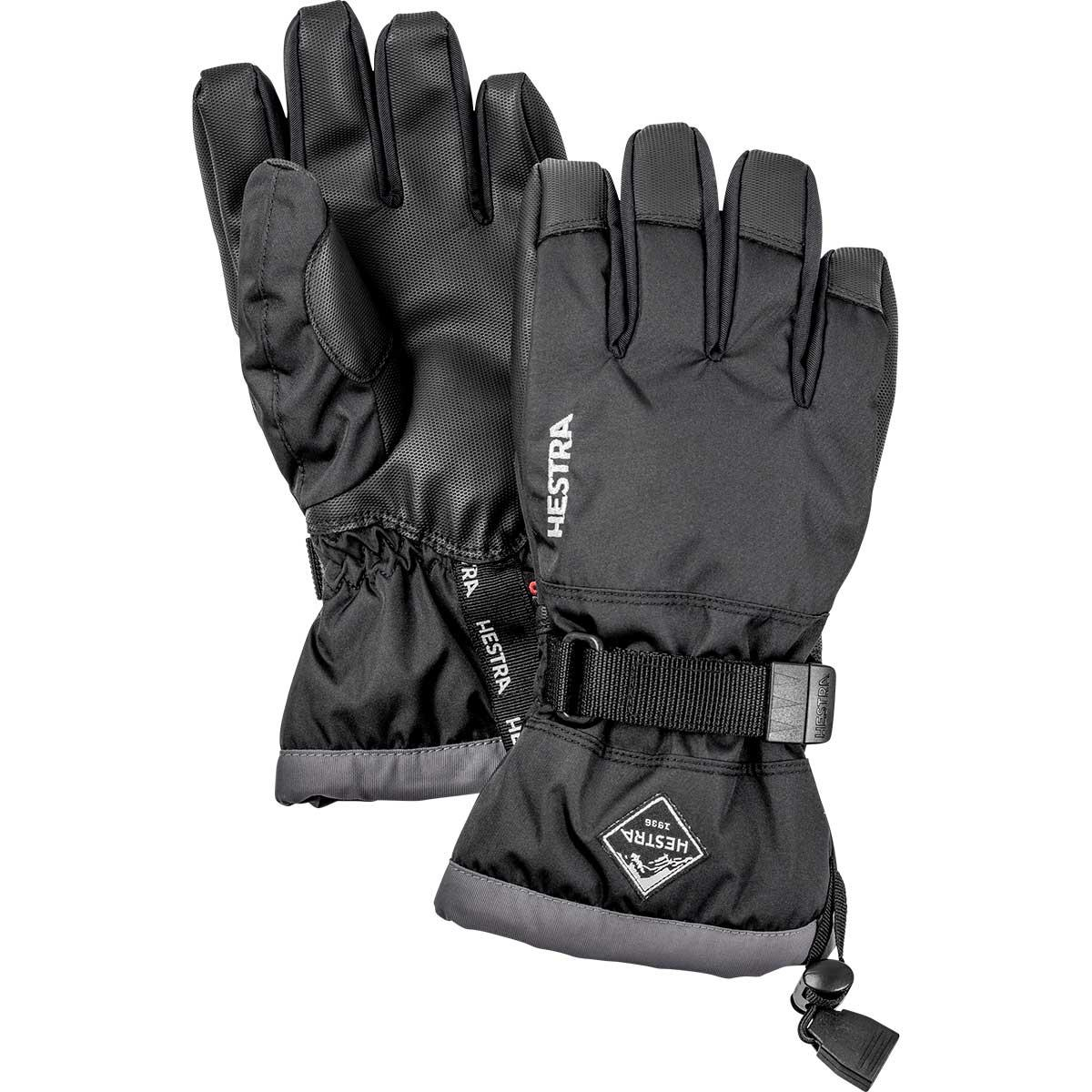 Hestra Junior Gauntlet CZone Glove in black and graphite