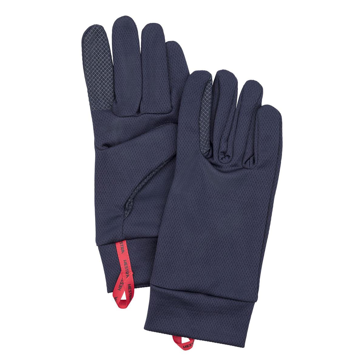 Hestra Touch Point Dry Wool Glove Liner in navy