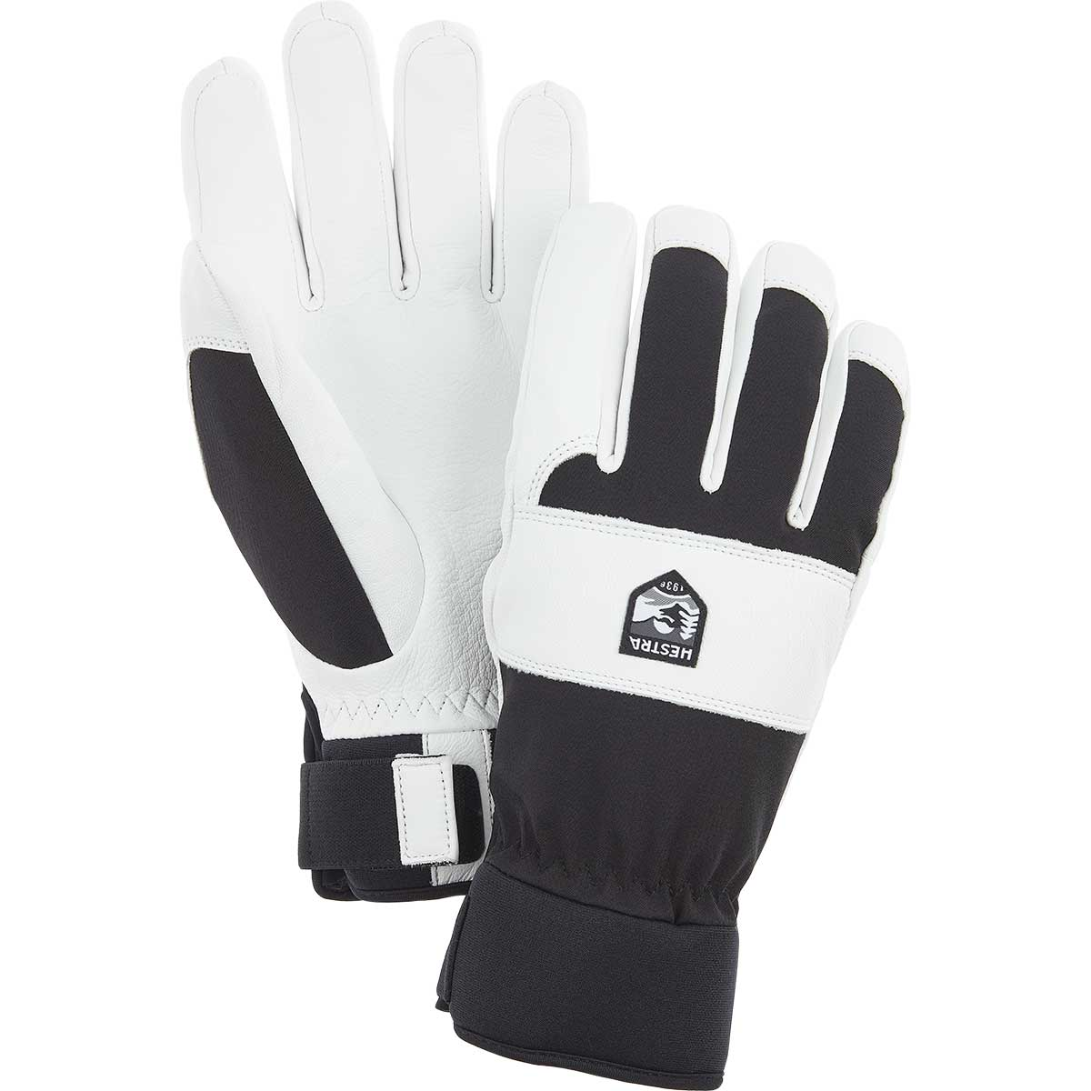 Hestra CZone Vernum Gloves in white and black
