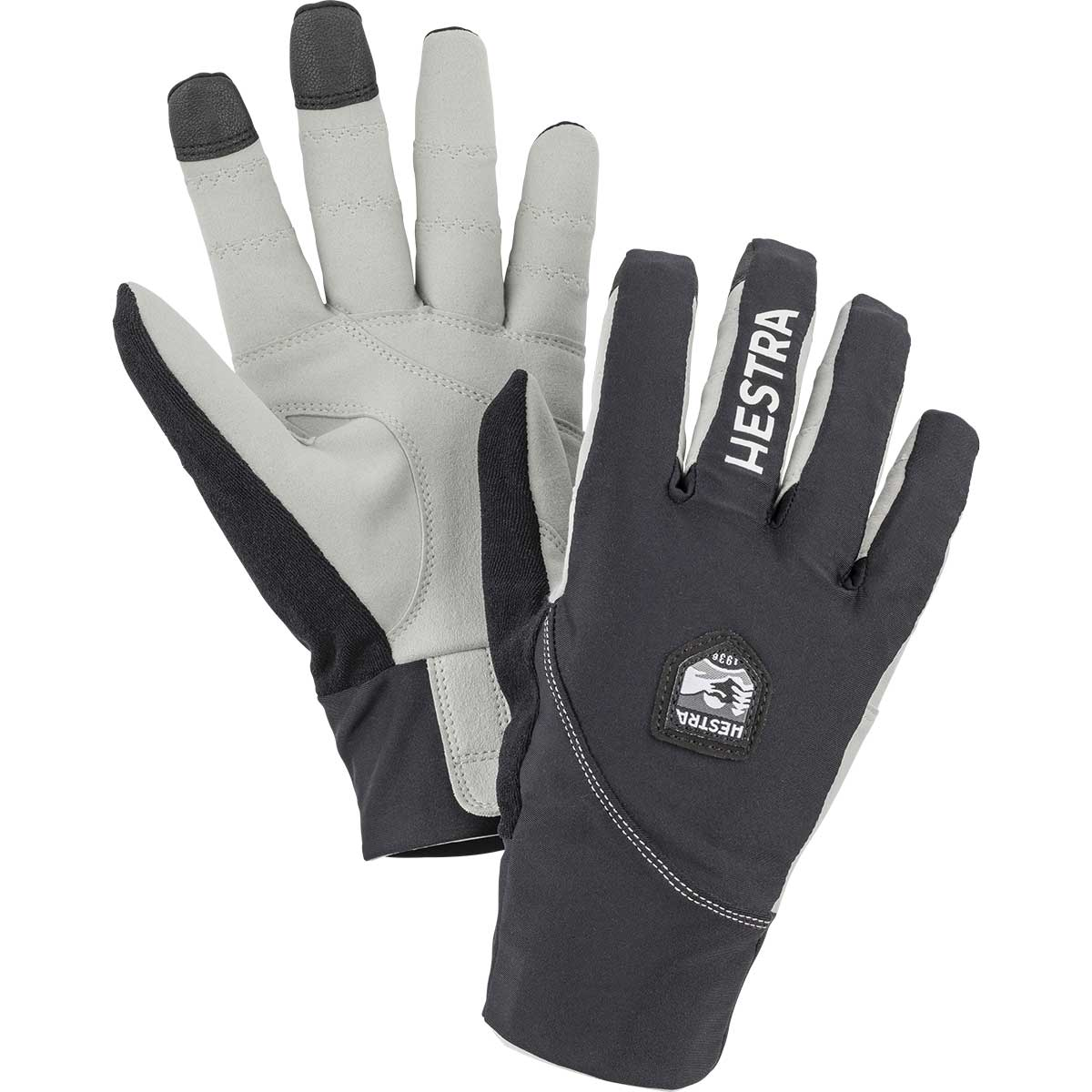 Hestra Ergo Grip Race Cut Glove in black and light grey