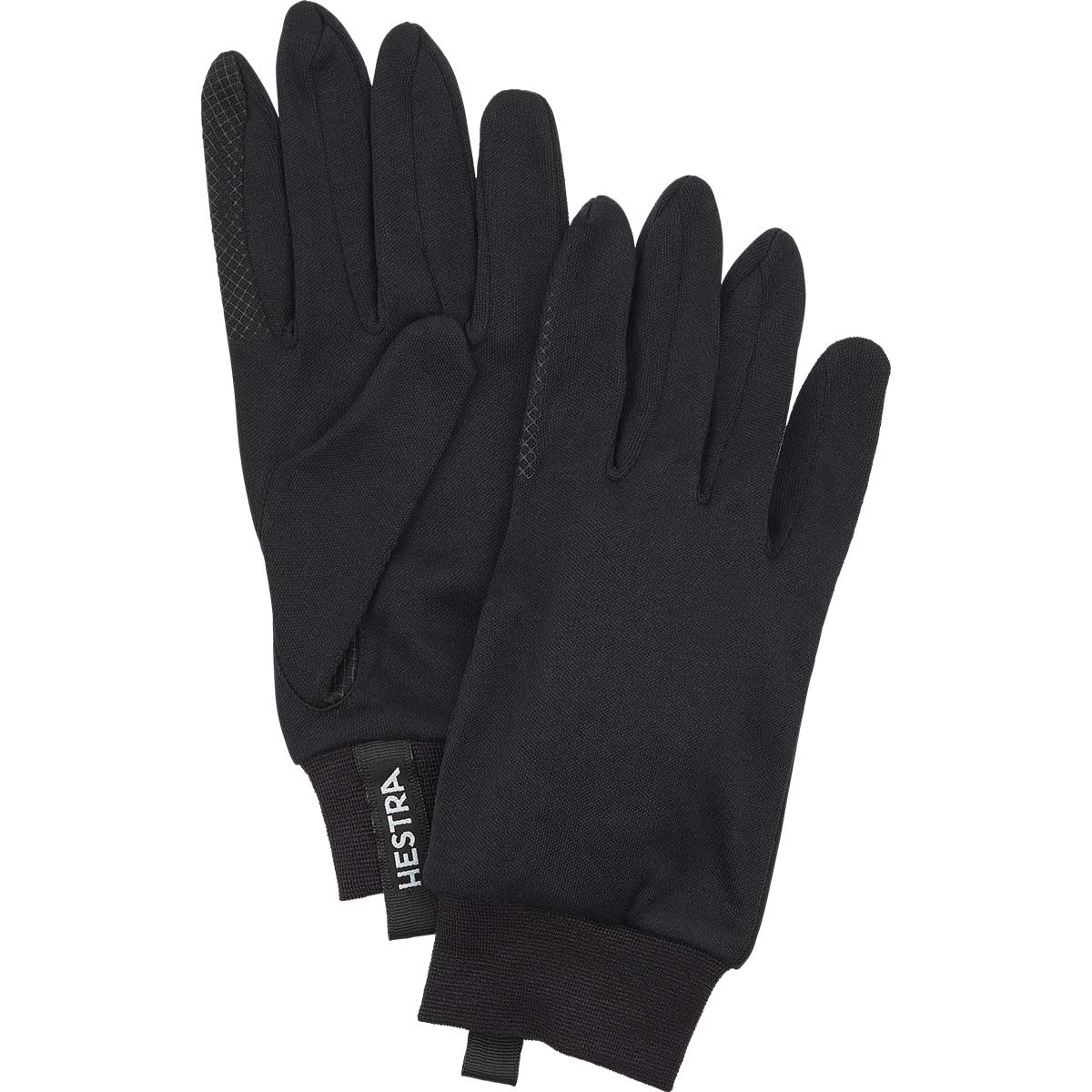 Hestra Silk Liner Touch Point Liner Glove in black