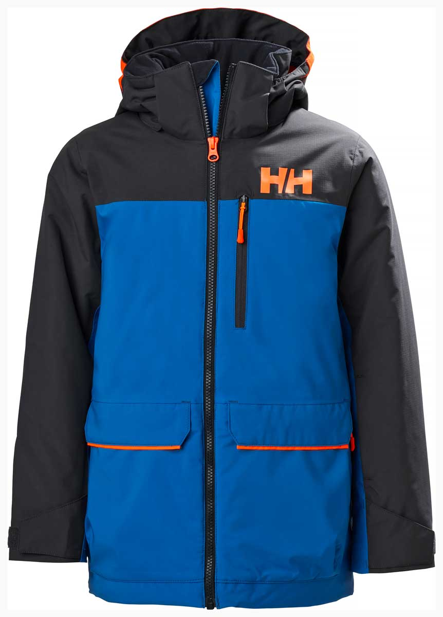 Helly Hansen Kids' Tornado Jacket in Sonic Blue