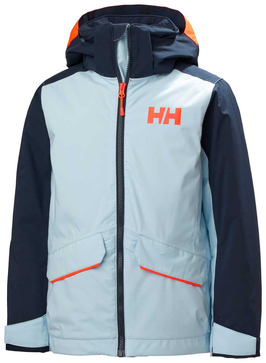 Helly Hansen Girls' Snowangel Jacket in Ice Blue
