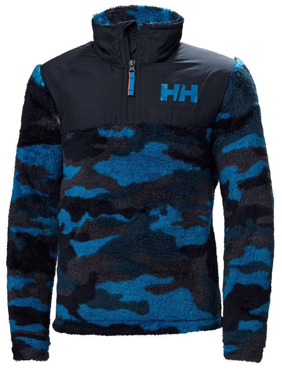 Helly Hansen Juniors' Champ 1/2 Zip Midlayer Top in Sonic BLue Aop