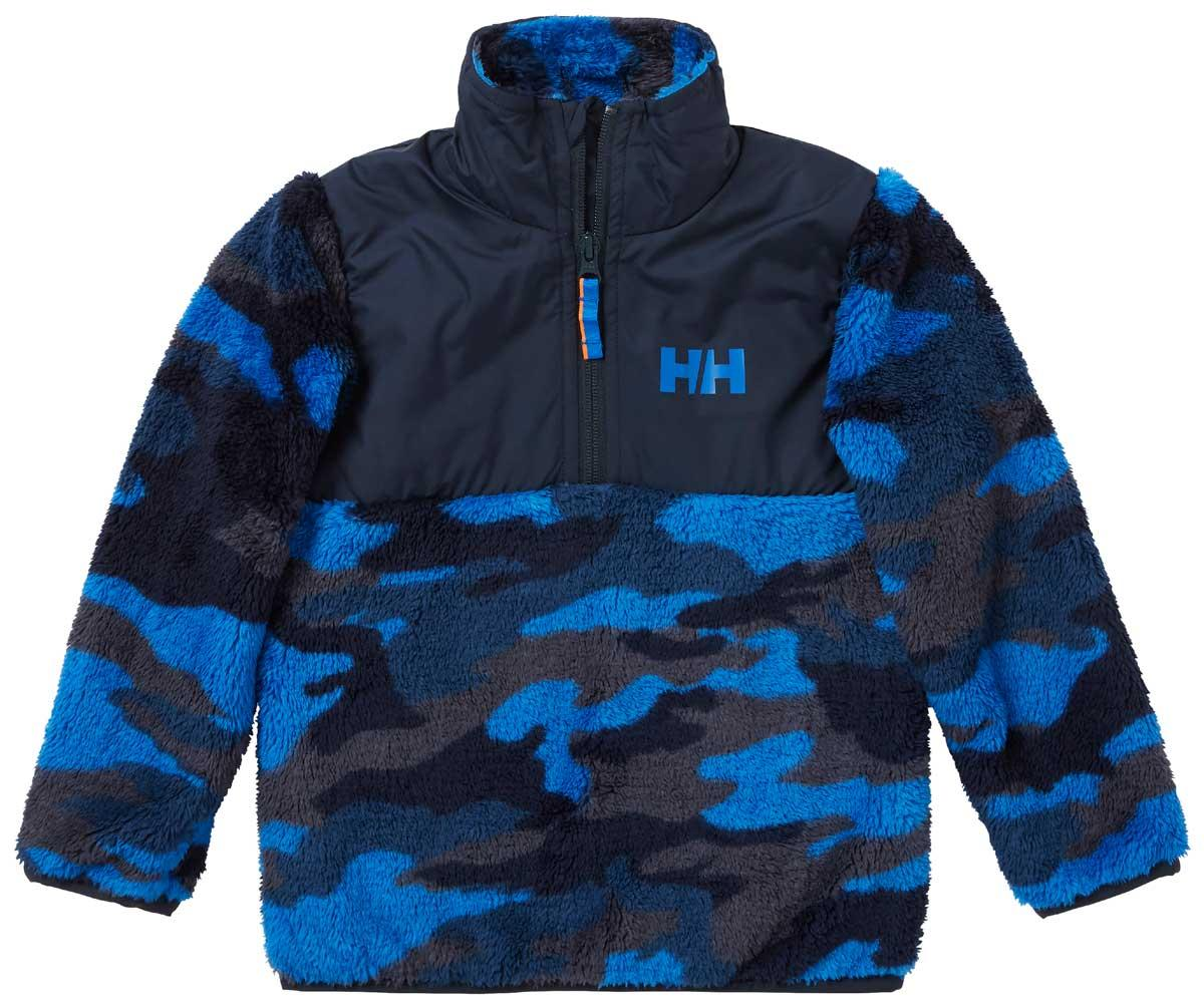 Helly Hansen Kids' Champ 1/2 Zip Midlayer Top in Sonic Blue Aop