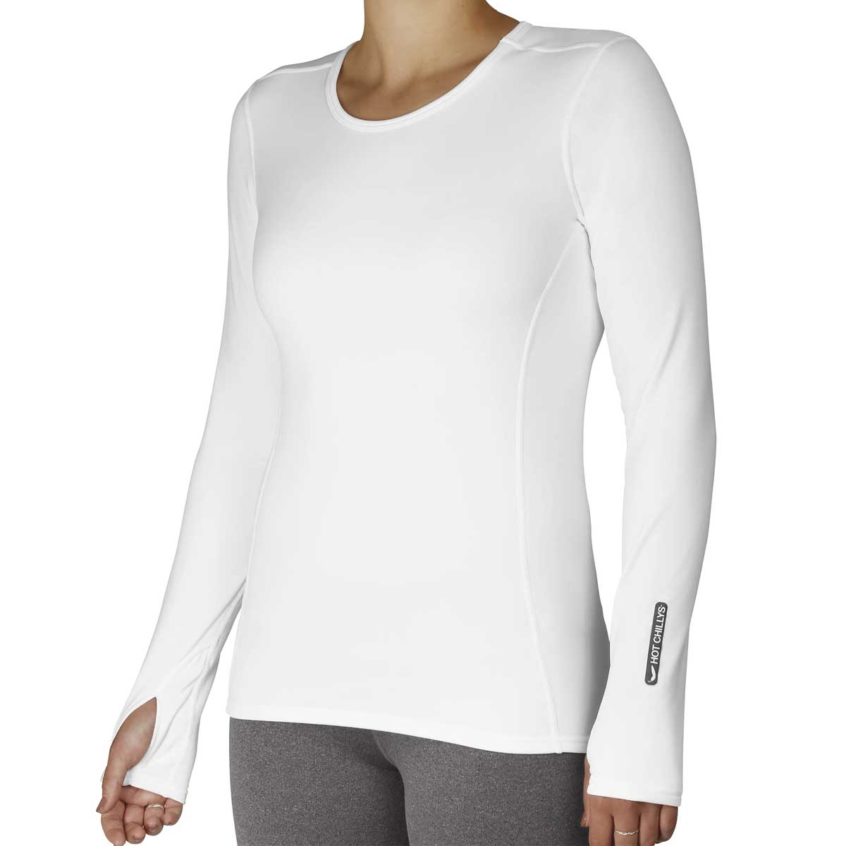 Hot Chillys Women's MEC Crewneck Top in White
