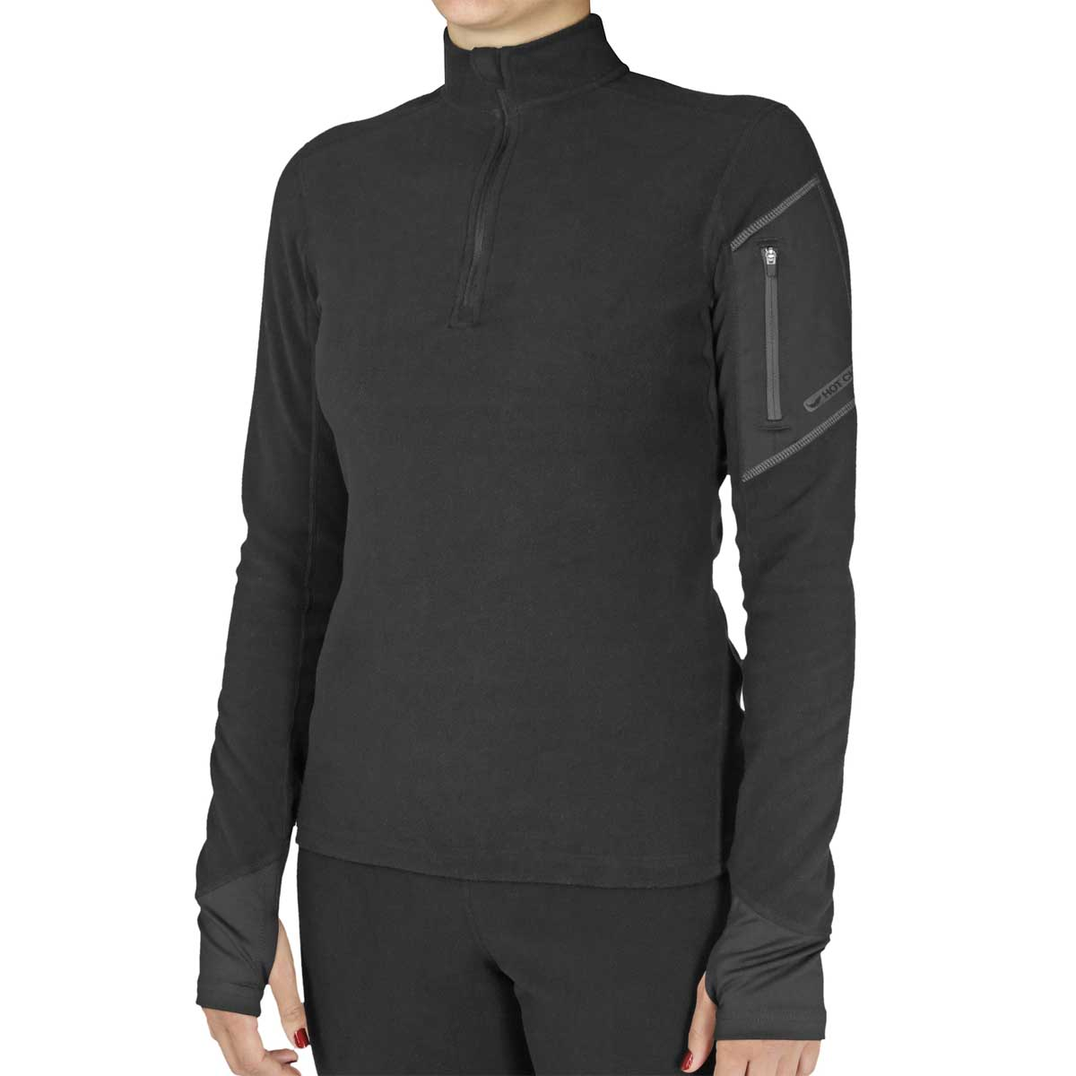 Hot Chillys Women's La Montana Zip-T in Black