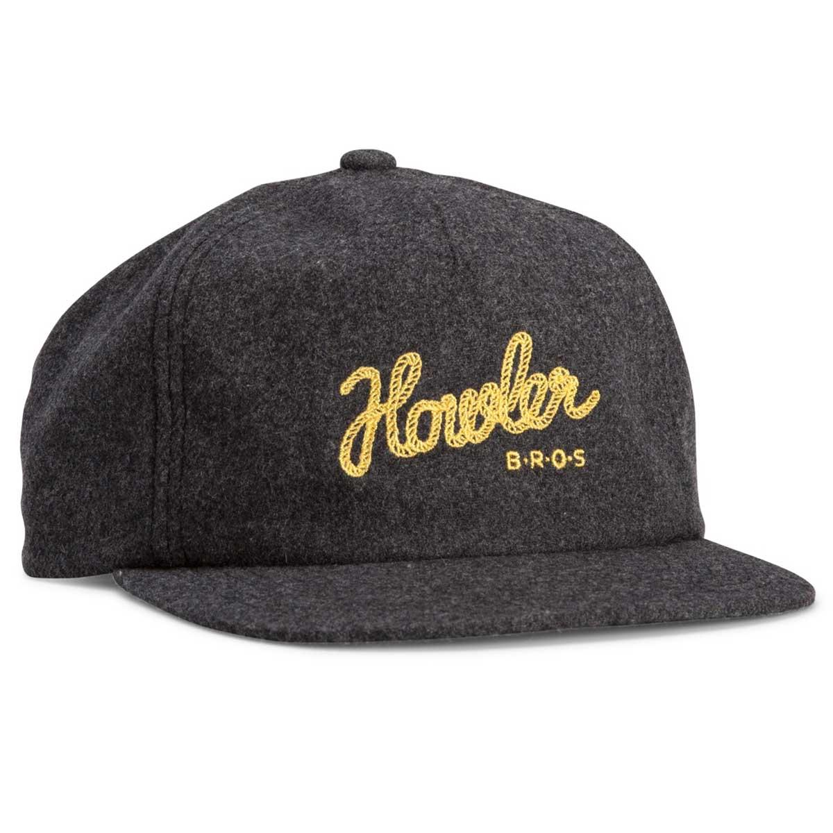 Howler Bros Howler Tie Down Snapback Hat in grey flannel