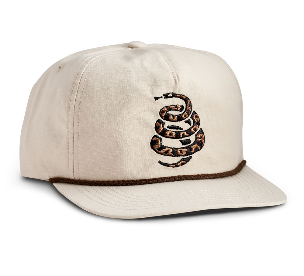 Howler Bros Cottonmouth Snapback Hat in Off White