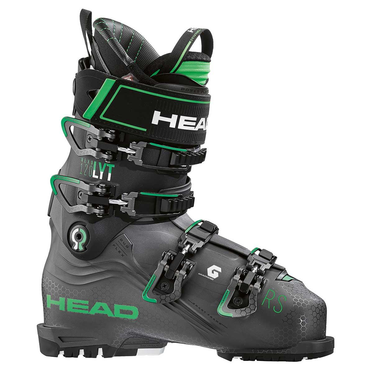 Head NEXO LYT 120 RS ski boot in anthracite and green