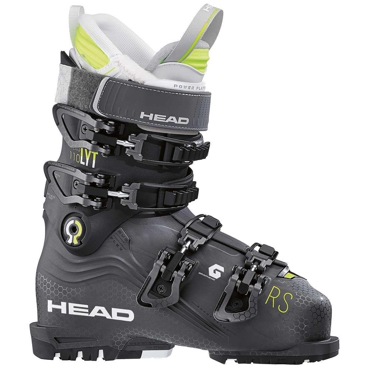 Head NEXO LYT 110 RS W women's ski boot in anthracite and black