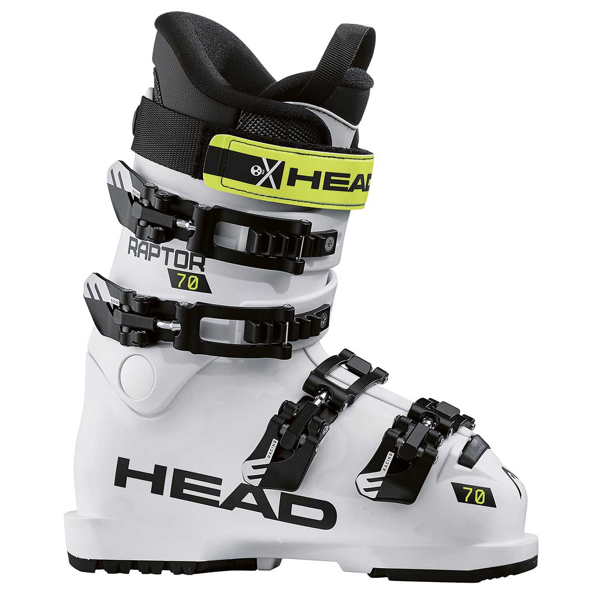 Head Raptor 70 RS junior race ski boot in white