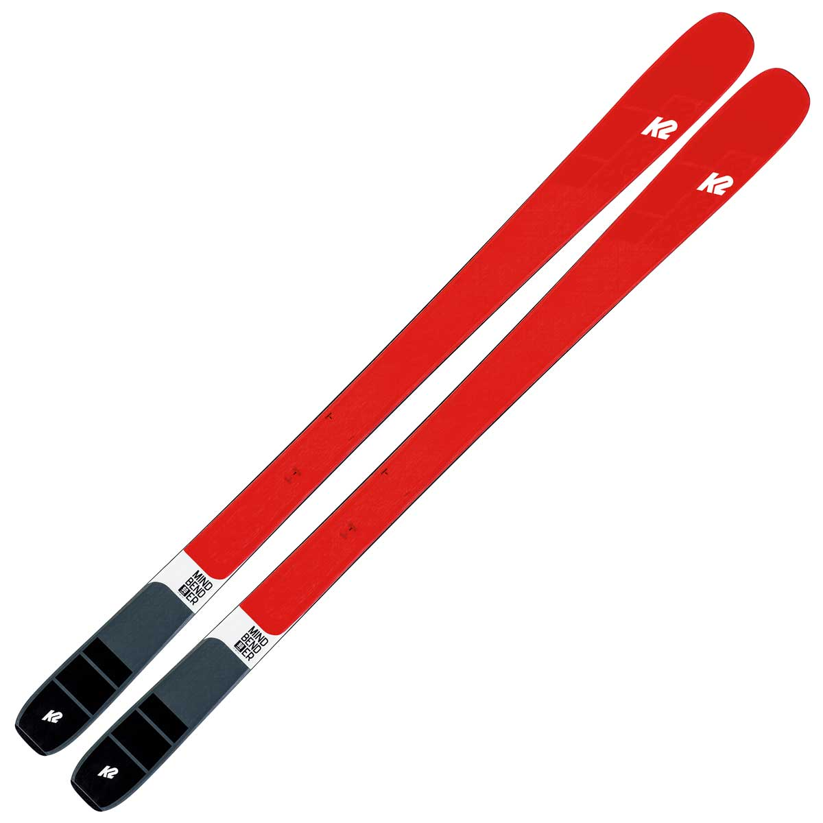 K2 Mindbender 90C ski in red and black