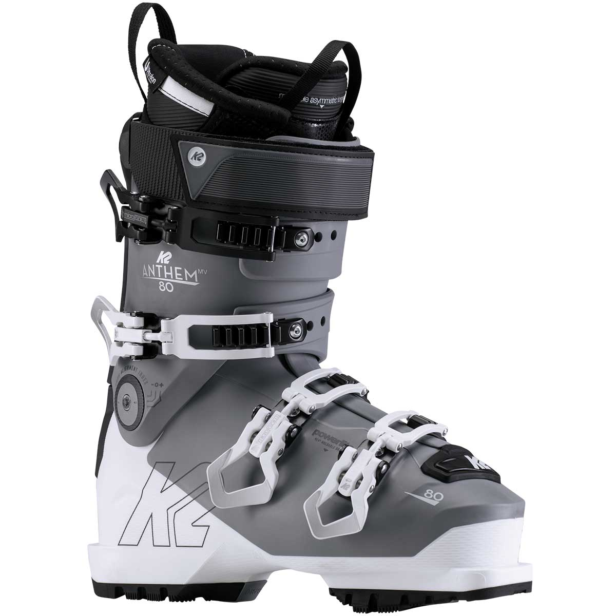 K2 Anthem 80 LV women's ski boot in grey
