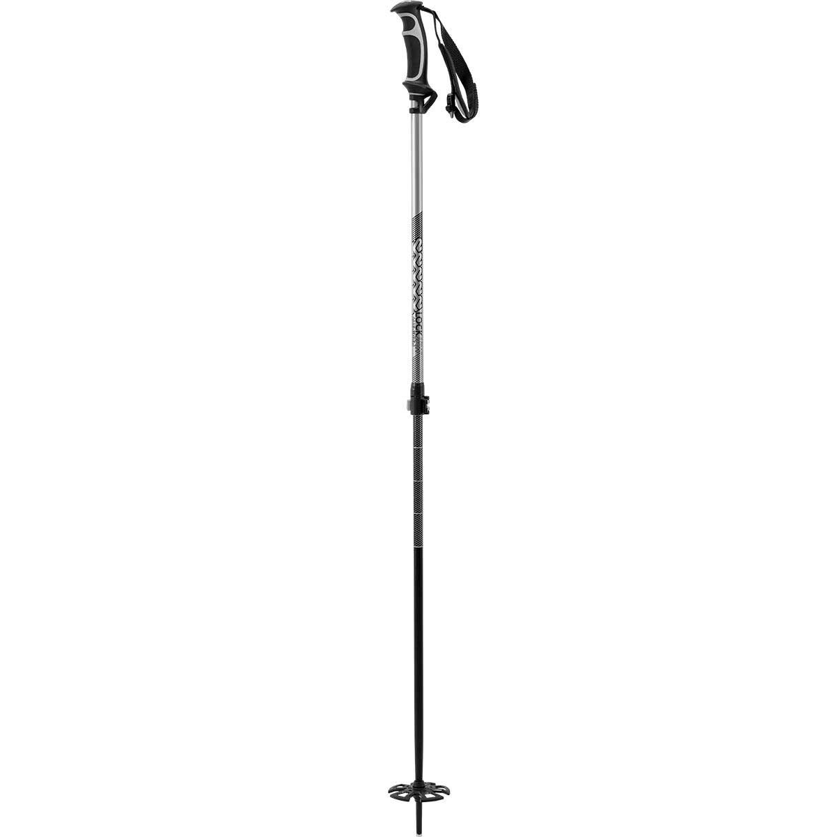 K2 Lockjaw Aluminum ski pole in silver