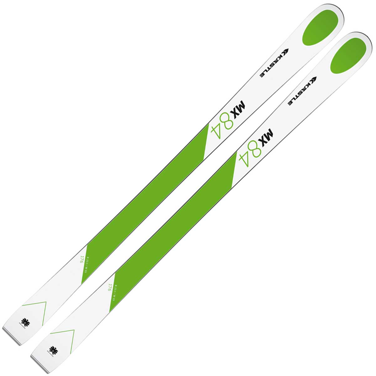 Kastle MX84 ski in white and green