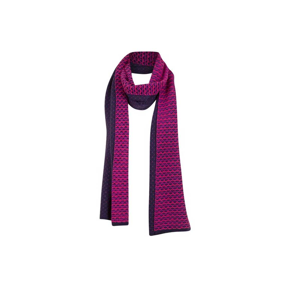 Krimson Klover Women's Ripple Scarf in Blackberry