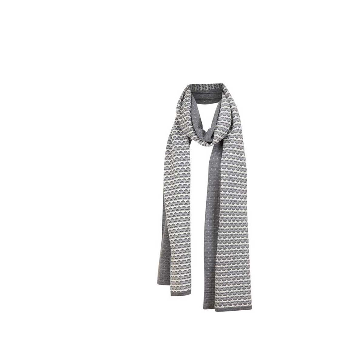 Krimson Klover Women's Ripple Scarf in Mid Grey