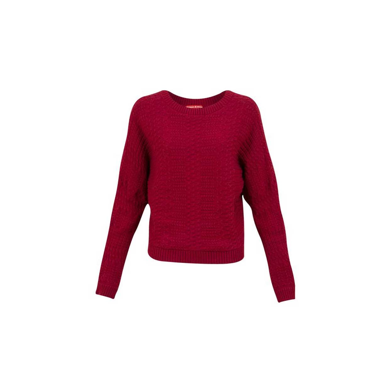 Krimson Klover Women's Elora Pullover Top in Wine