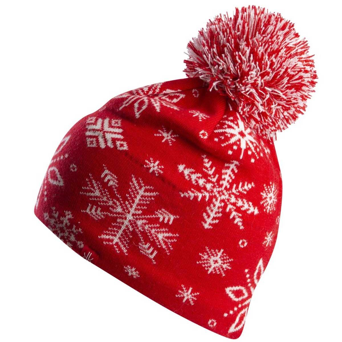 Krimson Klover Women's Snowshoe Beanie in Fiery Red