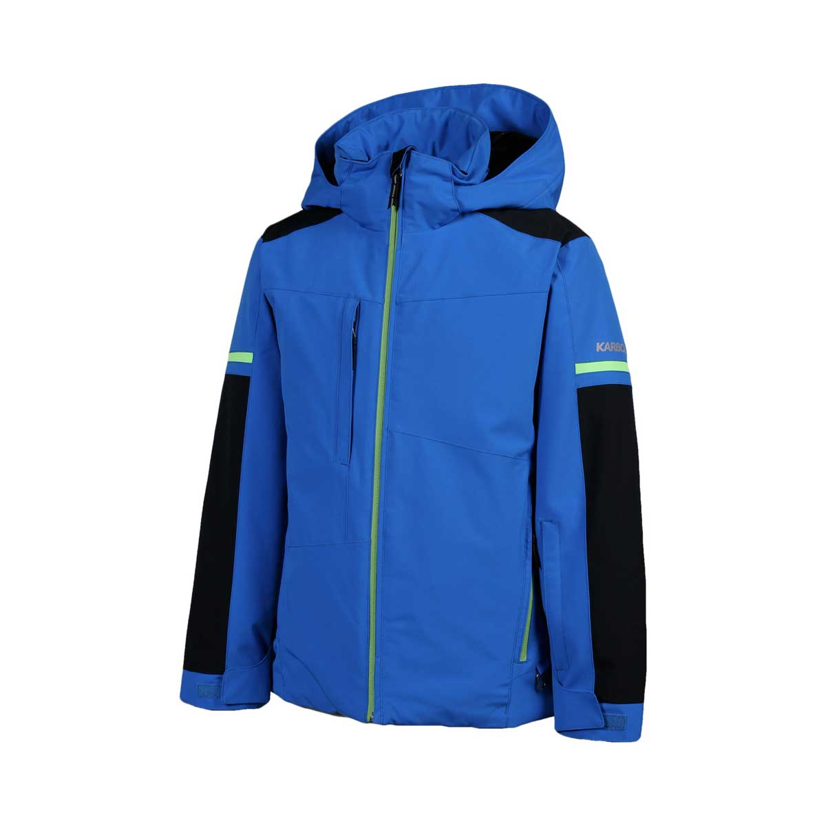 Karbon Boys' Exhaust Jacket in Olympic blue