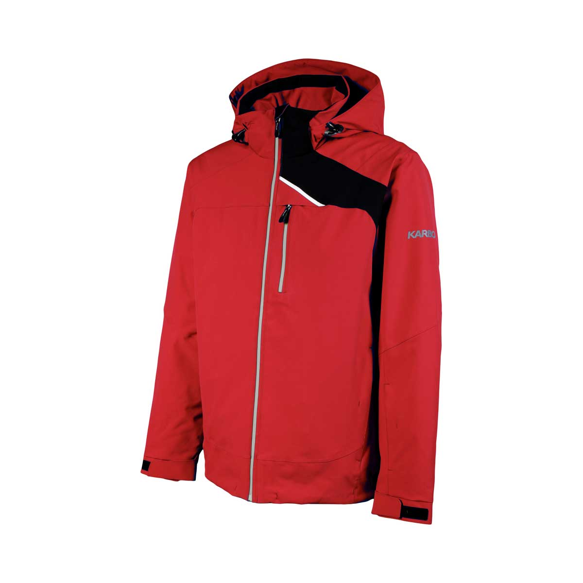 Karbon Men's Chromium Jacket in Red and Black
