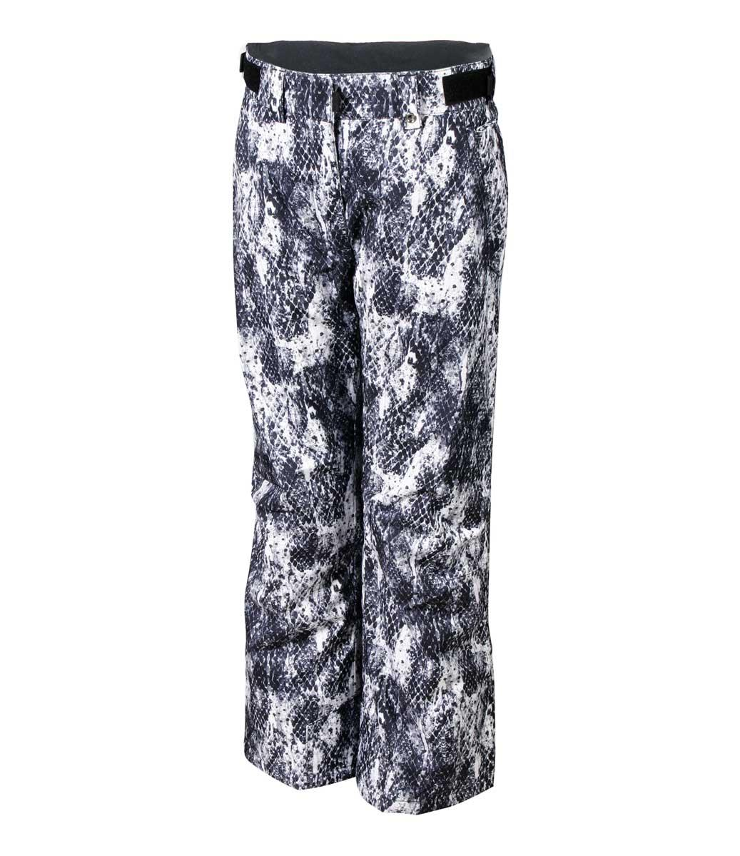 Karbon Girls' Halo Print Pant in Black and White