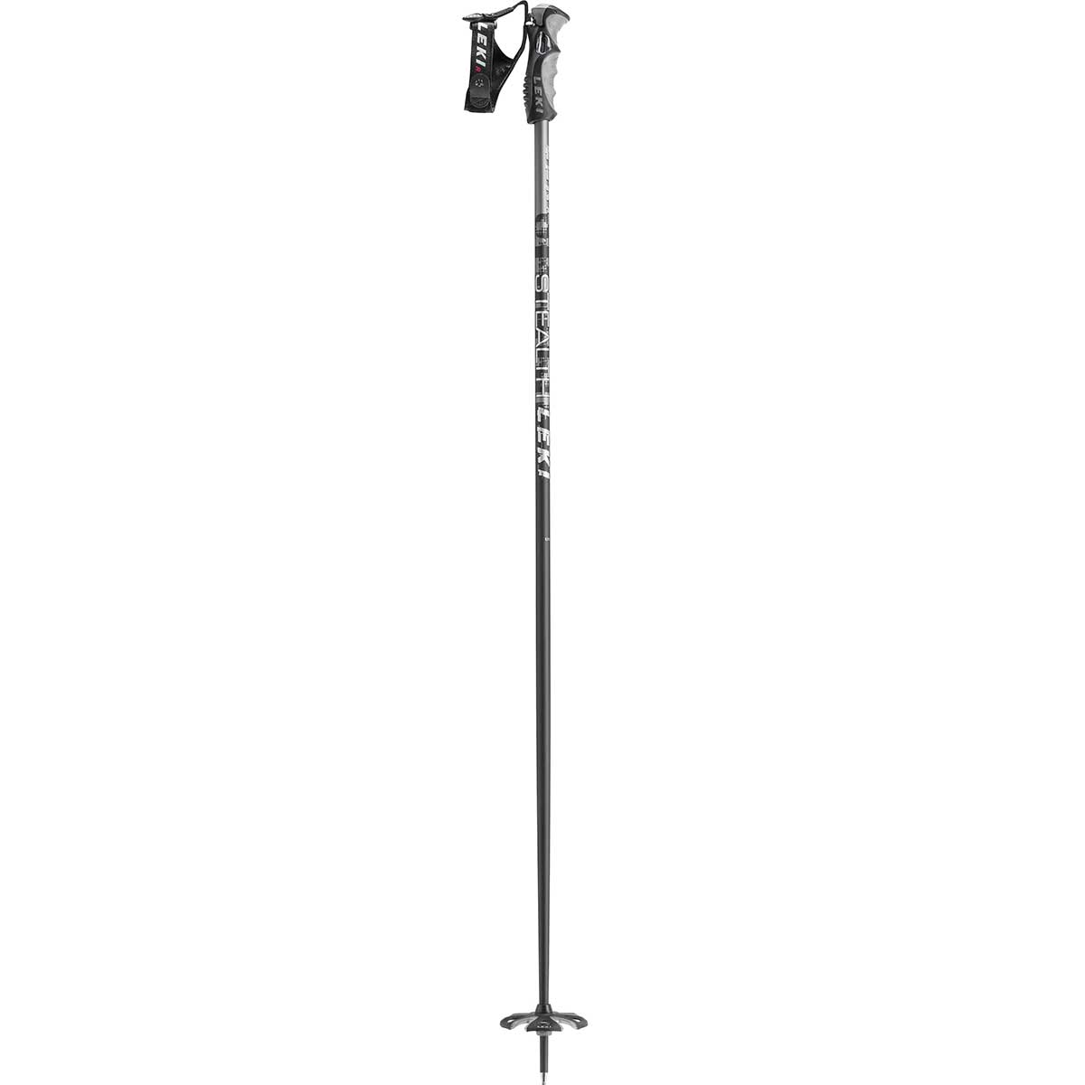 Leki Stealth S ski pole in black and grey