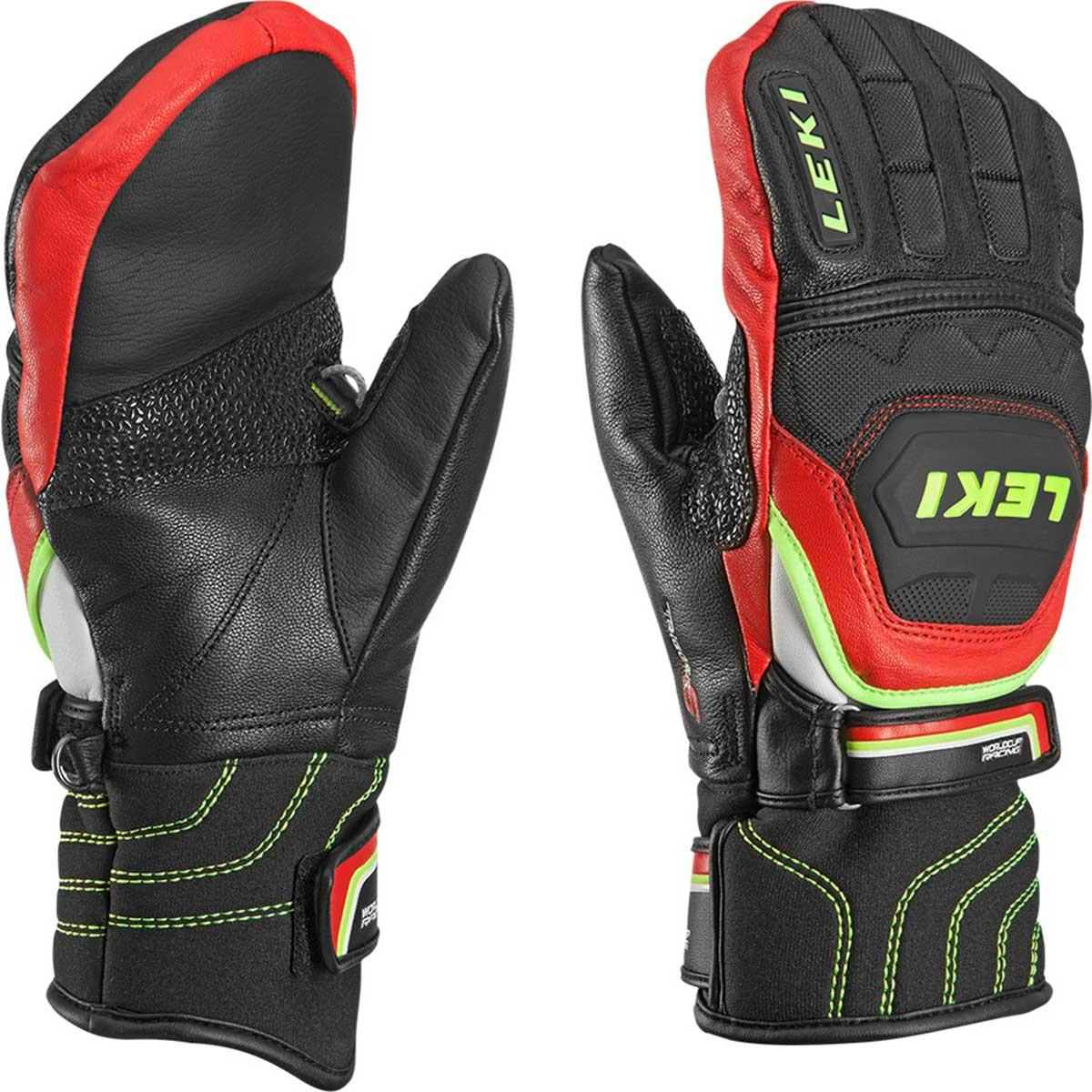 Leki Worldcup Race Flex S JR Mitt in black and red and yellow