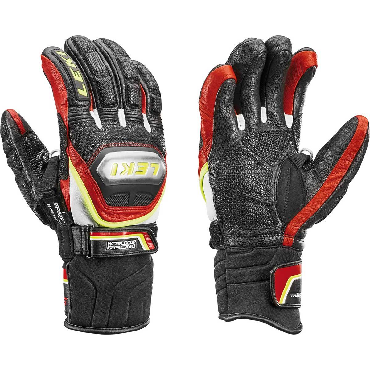 Leki Worldcup Racing Ti Speed System Glove in black and red and yellow