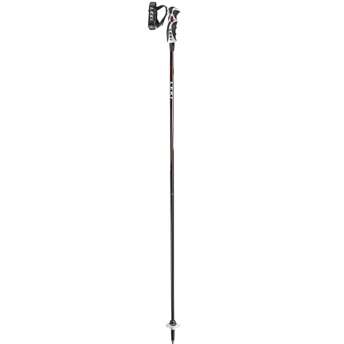 Leki Carbon 14S ski pole in red