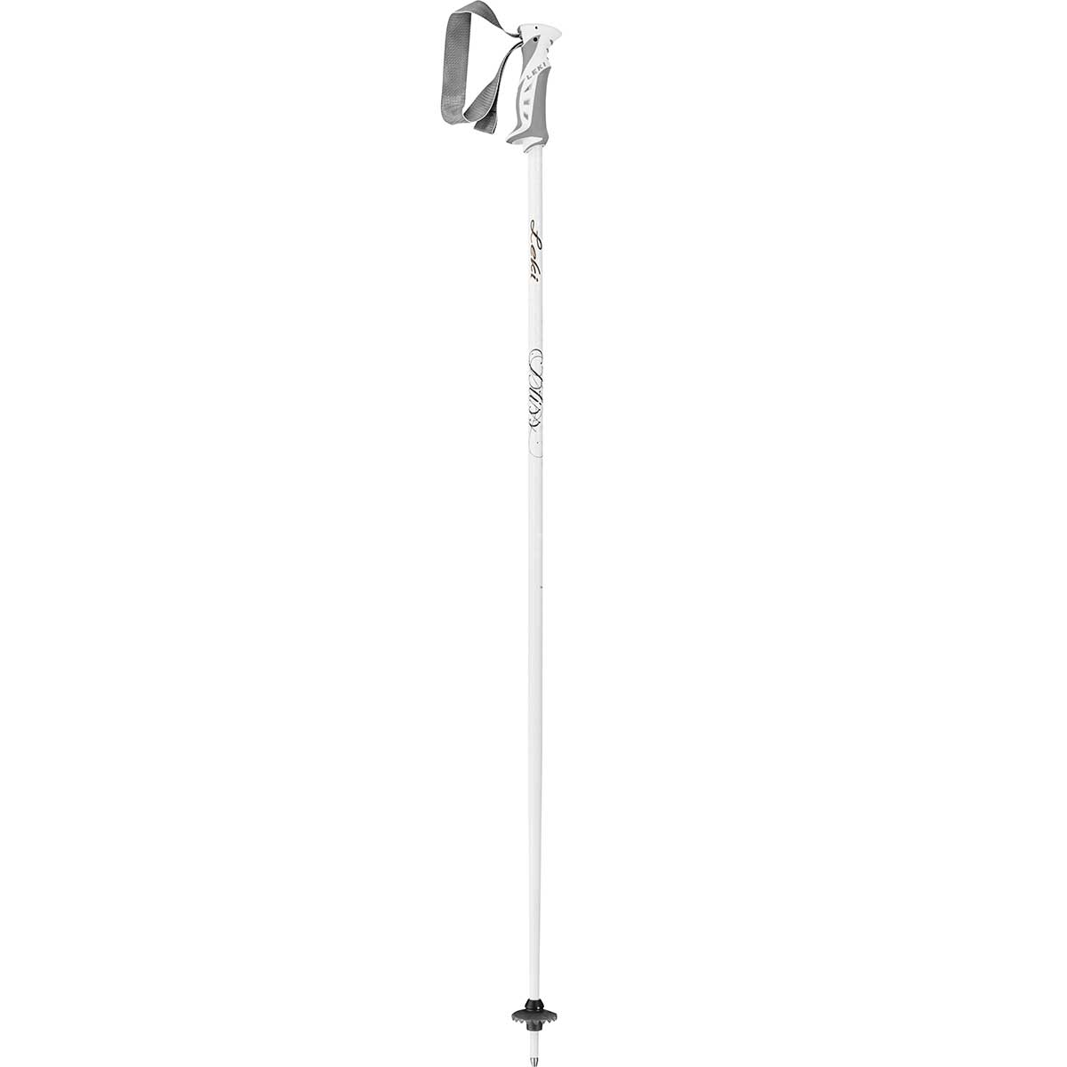 Leki Bliss women's ski pole in white and gold
