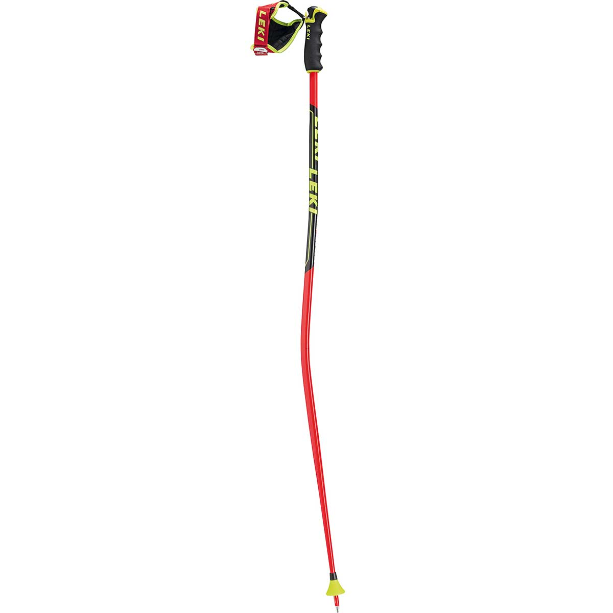 Leki Worldcup Racing GS Trigger Pole in red black yellow