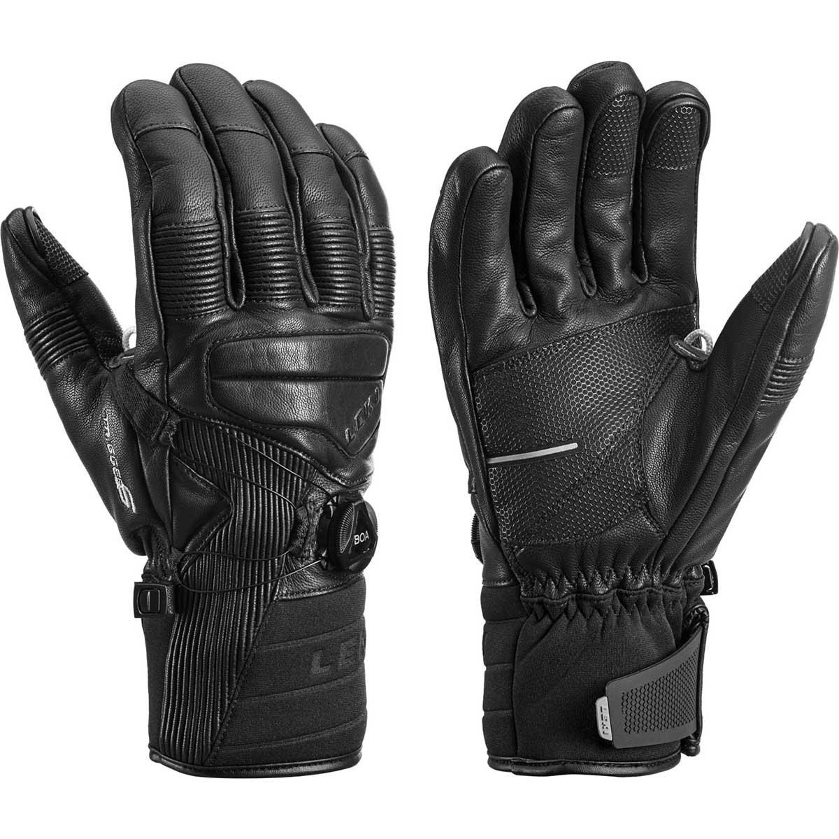 Leki Progressive Tube LTR S BOA MF Touch Gloves in black