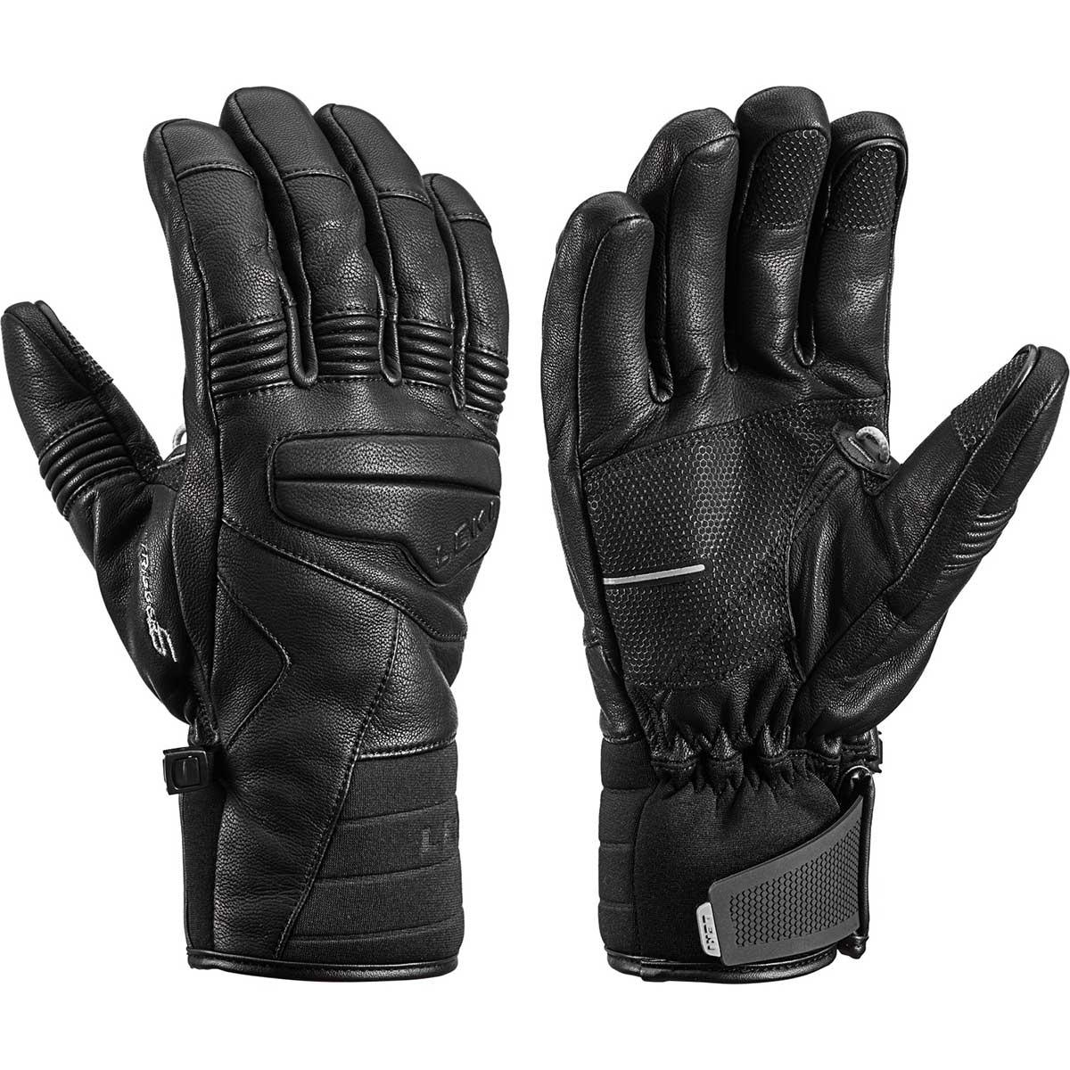 Leki Progressive 9 S MF Touch Gloves in black